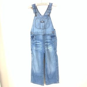 OSH KOSH KIDS WHISKER WASH DENIM OVERALLS SIZE 5T